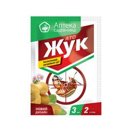 Інсектицид АТО Жук КС UKRAVIT від 3 мл + Гулівер стимул 10 мл, Фасовка: Міні упаковка 3 мл